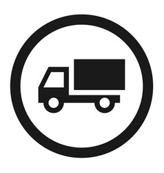 no truck prohibited sign line icon vector image