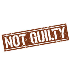 Not guilty square grunge stamp vector
