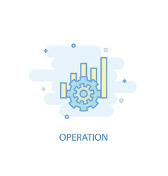 operation line concept simple line icon colored vector image