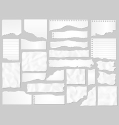 paper scraps ripped papers torn page pieces and vector image