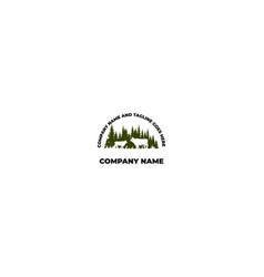 Pine cedar spruce evergreen cypress larch hemlock vector