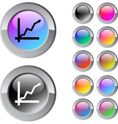 Positive trend multicolor round button vector image