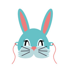 Rabbit animal carnival grey small bunny hare vector