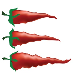 Red peppers vector