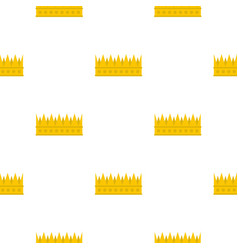 Regal crown pattern flat vector