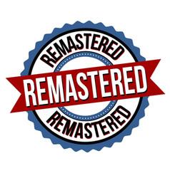 remastered label or sticker vector image