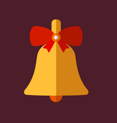 retro decorative christmas bell vector image