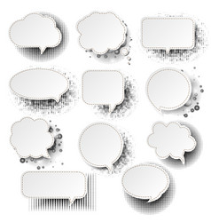 retro speech bubble with white background vector image