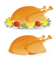 Roasted holiday turkey vector image