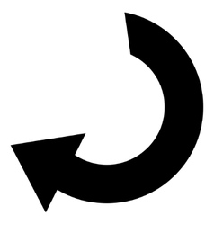 Rotate Flat Icon vector image