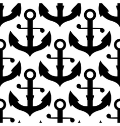 Seamless pattern of sea ship anchors vector image