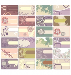 set of cute business cards vector image