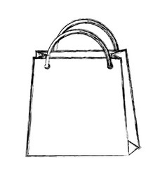 Sketch draw shopping bag cartoon vector