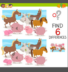 Spot the differences for kids vector
