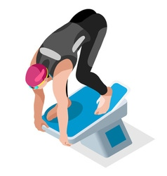 Swimming 2016 sports 3d isometric vector