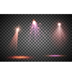 Transparent lighy effects on a dark background vector image