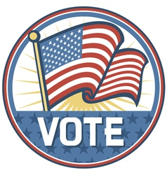 United states america elections pins badge vector