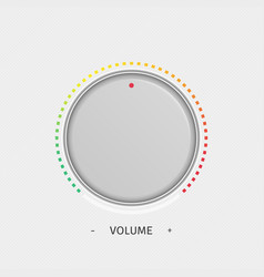 volume button template vector image