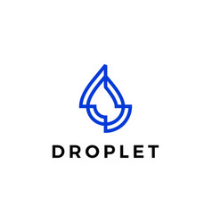 water drop droplet logo icon vector image