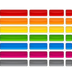 Web blank color buttons vector image