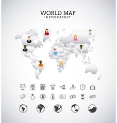 World map design vector