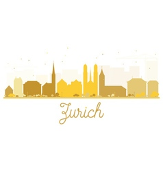 Zurich City skyline golden silhouette vector