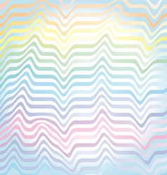 abstract rainbow waves pastel background vector image vector image