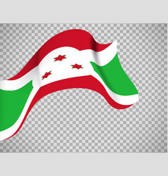 burundi flag on transparent background vector image