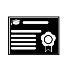 certificate diploma school pictogram vector image vector image