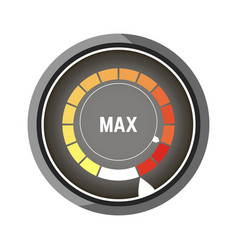 round speedometer with bars from yellow to red vector image vector image