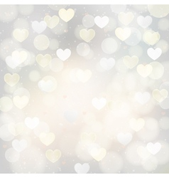 silver background with hearts vector image vector image