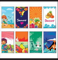 summer holiday templates vector image vector image