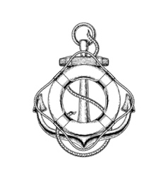an old nautical anchor and vector image