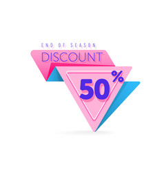 discount tag with special offer sale sticker vector image