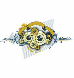disks sub-woofer ornament texture vector image