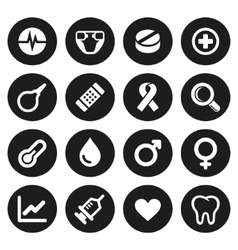Medical icons set 2 vector image vector image