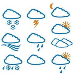 weather icons - weather buttons vector image vector image