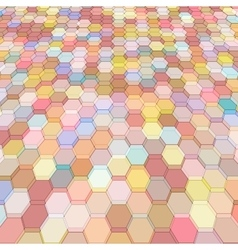 Abstract background with colorful hex polygons vector image vector image