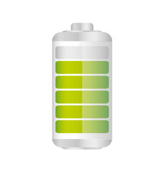 battery in ninety percent icon vector image