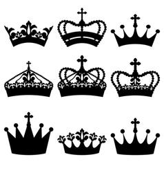Crown set vector image