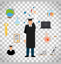 graduate student with diploma vector image