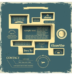 Web design in Retro style vector image vector image