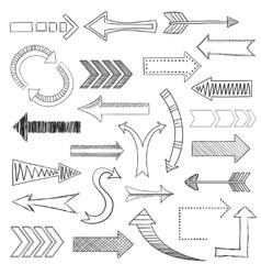 Arrows icons set sketch vector image vector image