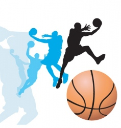 basketball dunk2 vector image vector image