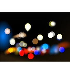 City bokeh vector image