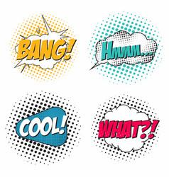 comic book sound effect set speech bubbles in pop vector image