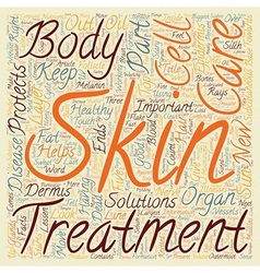 In Your Skin Some Facts on the Body s Largest vector image