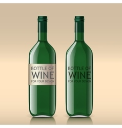 realistic sample of empty green bottles vector image vector image
