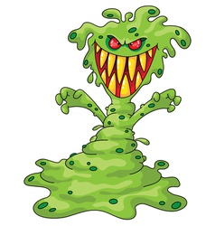scary monster vector image vector image