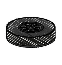 Tire car race vector